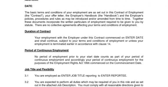 Contracts Of Employment Template Printable Sample Employment Contract Sample form Laywers