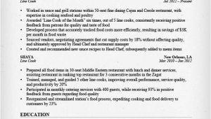 Cook Resume Sample Prep Cook and Line Cook Resume Samples Resume Genius