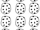Cookie Stencil Templates Chocolate Chip Cooke Printable Template