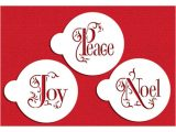 Cookie Stencil Templates Joy Noel and Peace Cookie Stencil Set by Designer