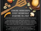 Cooking Class Flyer Template Free Cooking Lessons Flyer Template V2 On Behance