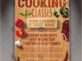 Cooking Flyers Templates Free Cooking Classes Premium Flyer Psd Template Psdmarket