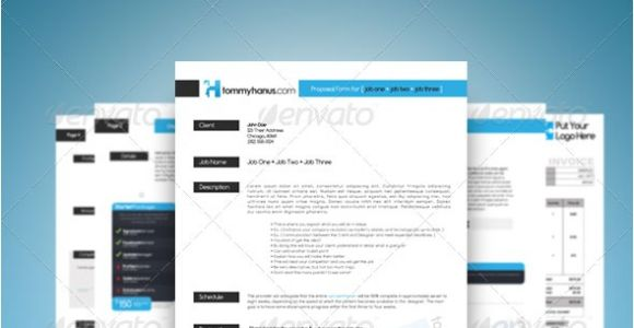 Cool Proposal Templates 20 Creative Invoice Proposal Template Designs Web