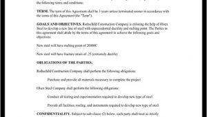 Cooperation Contract Template Cooperation Agreement Template for Business with Sample