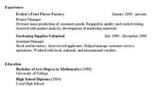 Copy Of A Basic Resume Basic Resume Generator Middletown Thrall Library