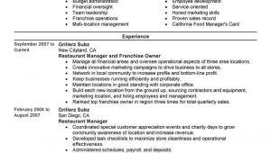 Copyable Resume Templates Best Franchise Owner Resume Example Livecareer