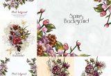 Corel Draw X7 Wedding Card Floral Spring Background Frames Vectors Wedding Card