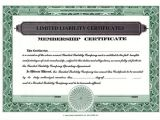 Corpex Stock Certificate Template Custom Printed Certificates Limited Liability Company