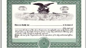 Corpex Stock Certificate Template Preferred Stock Corpex Eagle