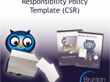 Corporate social Responsibility Policy Template Corporate social Responsibility Policy Template for