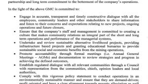 Corporate social Responsibility Policy Template Gmc Home
