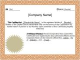 Corporate Stock Certificate Template Word 5 Sample Stock Certificate Templates to Download Sample
