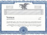 Corporate Stock Certificate Template Word Word and Vector Certificate Template Certificate Templates