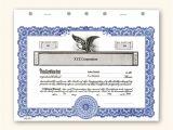 Corporate Stock Certificates Template Free Corporate Stock Ledger Template Best Template Design
