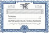 Corporate Stock Certificates Template Free Word and Vector Certificate Template Certificate Templates