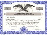 Corporation Stock Certificate Template Custom Printed Certificates Corporation Corporation
