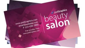 Cosmetology Business Card Templates Beauty Salon Business Card Template Psdgraphics