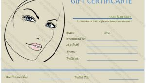 Cosmetology Certificate Template Gift Voucher Templates Gift Certificate Templates