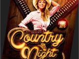 Country Western Flyer Template Free Country and Western Flyer Templates for Photoshop