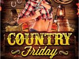 Country Western Flyer Template Free Country Night 1 Flyer Template Download Country Flyer