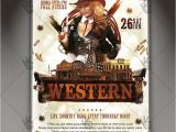 Country Western Flyer Template Free Western Party Premium Flyer Psd Template Psdmarket