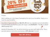 Coupon Email Template 31 Ways to Design Your Thanksgiving Email Template