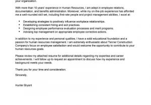 Cover Letter Addressed to Human Resources Best Human Resources Cover Letter Samples Livecareer