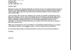 Cover Letter Addressed to Human Resources Cover Letter for Human Resources Resume Badak