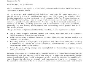 Cover Letter Addressed to Human Resources Human Resource Cover Letter Sample Sample Cover Letters