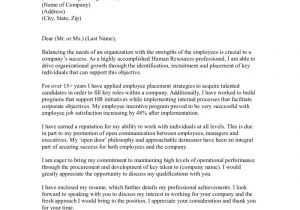 Cover Letter Addressed to Human Resources Sample Cover Letter for Human Resources Professional