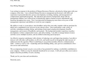 Cover Letter Addressed to Human Resources Sample Letter to Human Resources Letters Free Sample