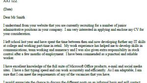 Cover Letter Examples for Admin Jobs Example Of A Cover Letter for Administrative Jobs