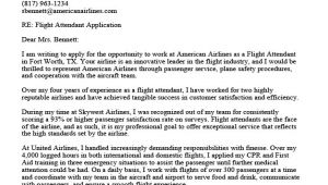 Cover Letter Examples for Flight attendant Job Flight attendant Cover Letter Sample Guide Resume
