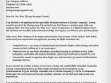 Cover Letter Examples for Flight attendant Job Flight attendant Cover Letter Sample Resume Genius