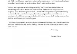 Cover Letter Examples for Retail Sales associate with No Experience Best Retail Cover Letter Examples Livecareer