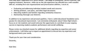Cover Letter Examples for social Workers Best social Worker Cover Letter Examples Livecareer