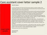 Cover Letter for A Care assistant Care assistant Cover Letter