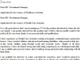 Cover Letter for A Care assistant Health Care assistant Cover Letter Example Icover org Uk