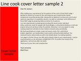 Cover Letter for A Cook Position Line Cook Cover Letter