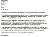 Cover Letter for A Project Manager Position Project Manager Cover Letter Example Icover org Uk