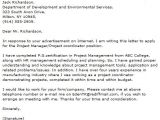 Cover Letter for A Project Manager Position Sample Cover Letter Project Manager Position Dental