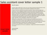 Cover Letter for A Sales assistant Job Sales assistant Cover Letter