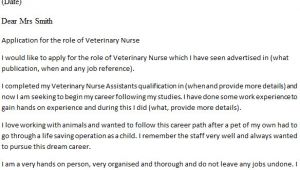 Cover Letter for A Veterinary assistant Veterinary Nurse Cover Letter Example Icover org Uk