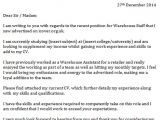 Cover Letter for A Warehouse Position Warehouse Staff Cover Letter Icover org Uk