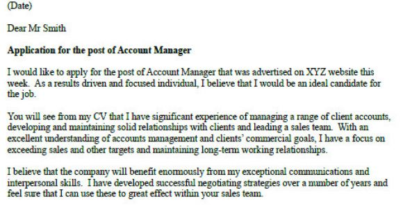 Cover Letter for Account Coordinator Account Manager Cover Letter Example Icover org Uk