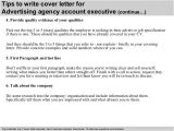 Cover Letter for Ad Agency Advertising Agency Account Executive Cover Letter