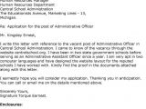 Cover Letter for Administration Officer Cover Letter for Administration Officer Letters Font
