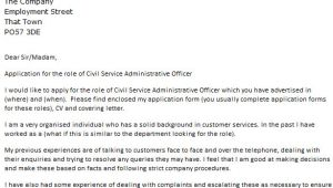 Cover Letter for Administrative Officer Position Civil Service Administrative Officer Cover Letter Example