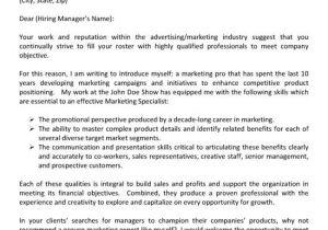 Cover Letter for Advertising Agency Advertising Cover Letter Cover Letter Examples