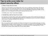 Cover Letter for Airport Job Airport Security Officer Cover Letter